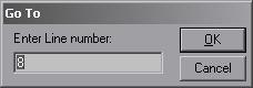 Диалоговое окно «Перейти к строке №» в win32pad.exe