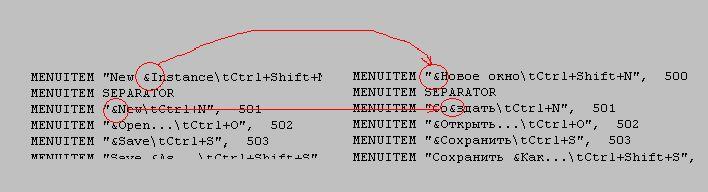 Переназначение буквы быстрого доступа в win32pad.exe